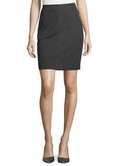 Neiman Marcus Stud-Embellished Pull-On Skirt