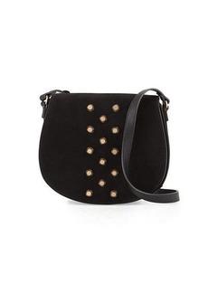 Neiman Marcus Studded Saddle Bag