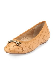 Neiman Marcus Suzy Quilted Nappa Ballet Flat