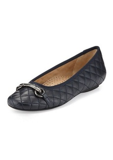 Neiman Marcus Suzy Quilted Napa Ballet Flat