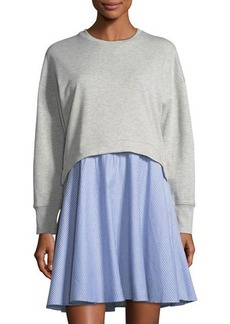 Neiman Marcus Sweatshirt Twofer Dress