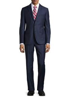 Neiman Marcus Slim-Fit Solid Two-Piece Suit