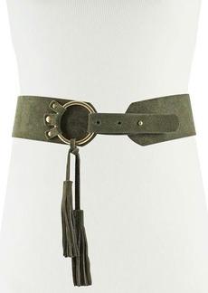 Neiman Marcus Tasseled Suede Pullback Belt