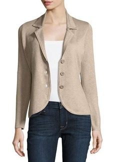 Neiman Marcus Three-Button Knit Jacket