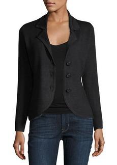 Neiman Marcus Three-Button Knit Jacket