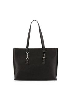 Neiman Marcus Tiller Faux-Leather Tote Bag