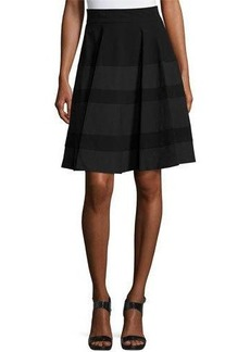 Neiman Marcus Tonal Stripe-Print Skirt
