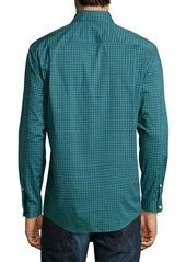 Neiman Marcus Trim-Fit No-Iron Plaid Dress Shirt