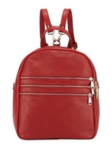 Neiman Marcus Triple-Zip Leather Backpack