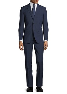 Neiman Marcus Two-Button Tonal Windowpane Two-Piece Suit