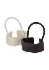 Neiman Marcus Two-Piece Faux-Leather Ponytail Holder Set
