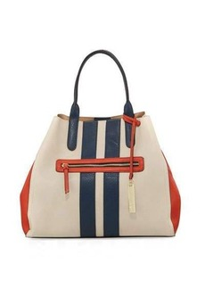 Neiman Marcus Two-Way Striped Tote Bag
