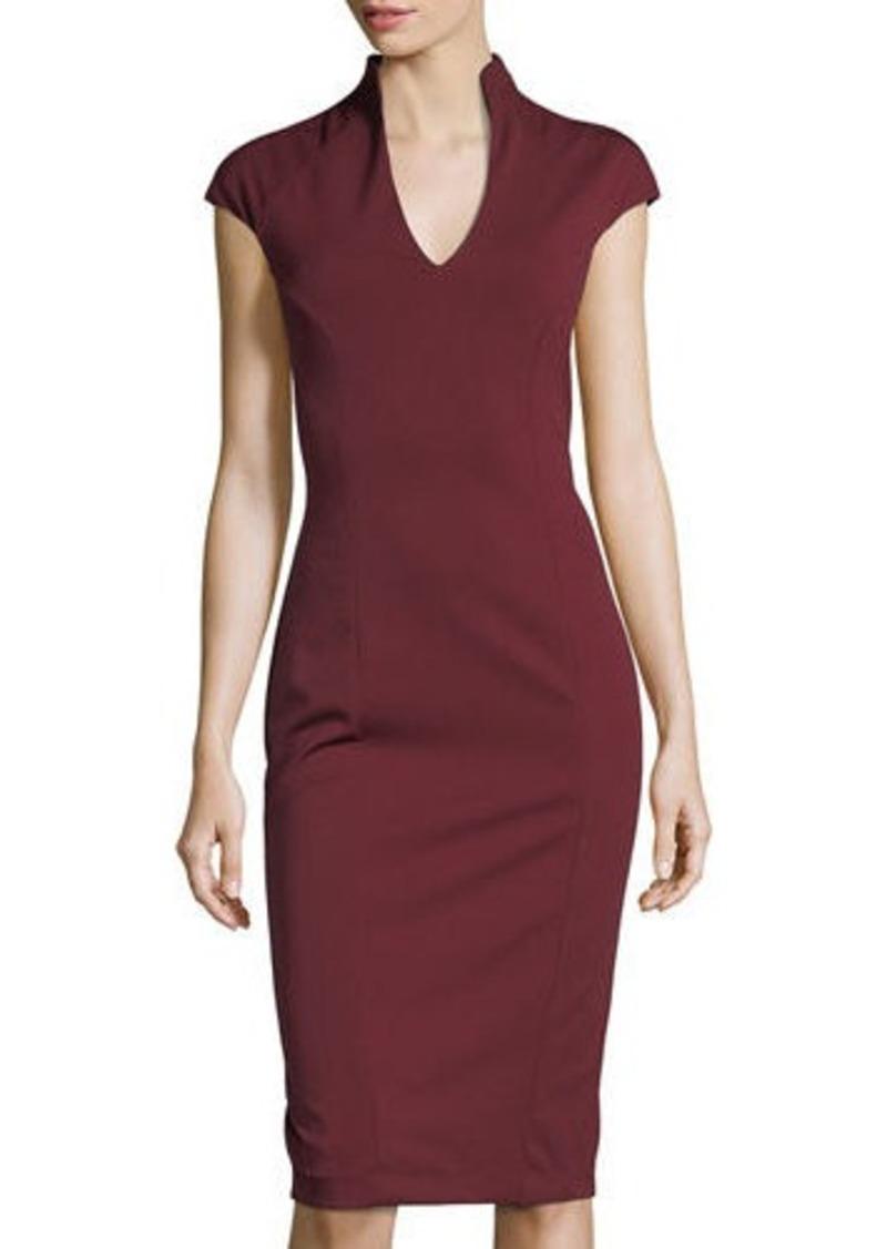 Neiman Marcus Neiman Marcus V-Neck Midi Cocktail Dress | Dresses ...