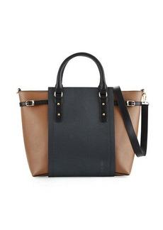 Neiman Marcus Valeria Colorblock Stingray Tote Bag