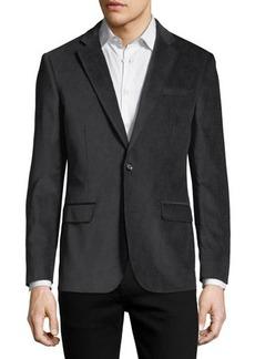 Neiman Marcus Velvet Slim-Fit Blazer