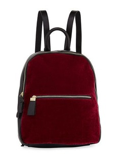 Neiman Marcus Vera Velvet Two-Tone Backpack