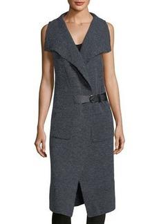 Neiman Marcus Vest Duster w/ Buckle Detail