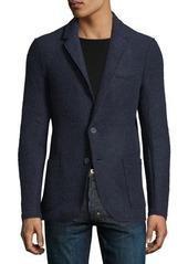 Neiman Marcus Wool-Blend Patch-Pocket Jacket