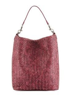 Neiman Marcus Woven Hobo Bag