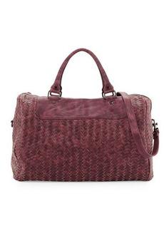 Neiman Marcus Woven Weekender Bag