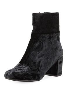 Neiman Marcus Zilfi Velvet Chunky-Heel Bootie
