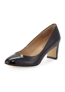 Neiman Marcus Zora Patent Leather Pump