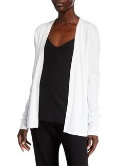 Neiman Marcus Open-Front Long-Sleeve Cardigan