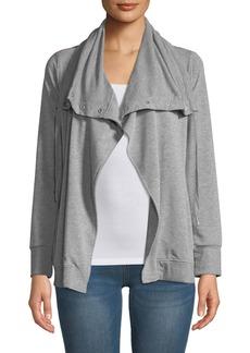 Neiman Marcus Oversized-Collar Cardigan