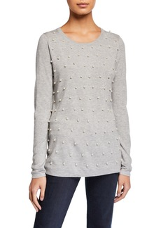 Neiman Marcus Pearlescent Sweater