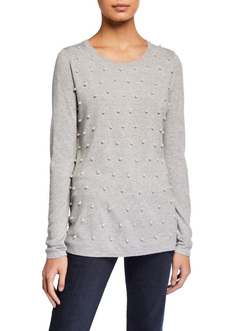 Neiman Marcus Pearlescent Sweater