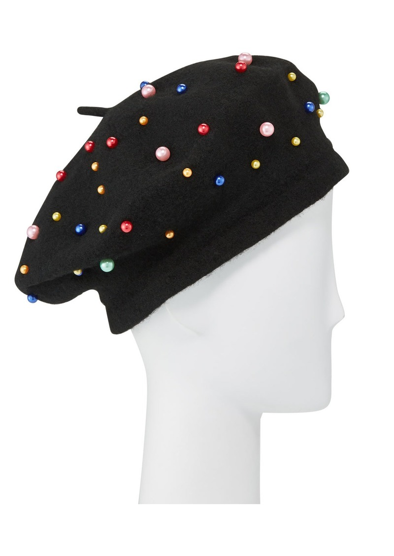 Neiman Marcus Pearly Felt Beret
