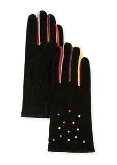 Neiman Marcus Pearly Suede Gloves