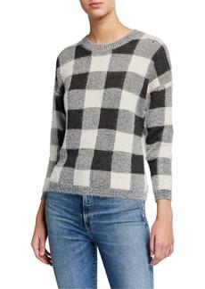 Neiman Marcus Plaid Crewneck Sweater