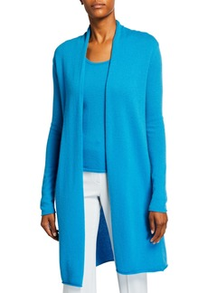 Neiman Marcus Plus Size Cashmere Duster Cardigan