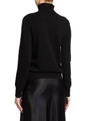 Neiman Marcus Plus Size Cashmere Ribbed Turtleneck Sweater
