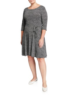 Neiman Marcus Plus Size Ilana Jersey A-Line Dress