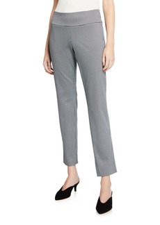 Neiman Marcus Ponte Houndstooth Pull-On Pants