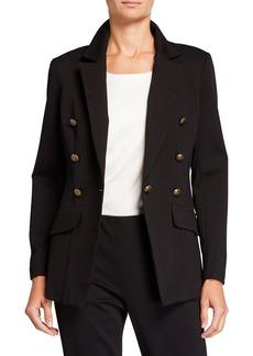 Neiman Marcus Ponte Knit Blazer Jacket