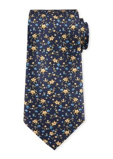 Neiman Marcus Floral Silk Tie
