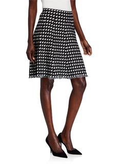 Neiman Marcus Pull-on Houndstooth Skirt