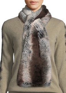 Neiman Marcus Pull-Through Faux-Fur Scarf
