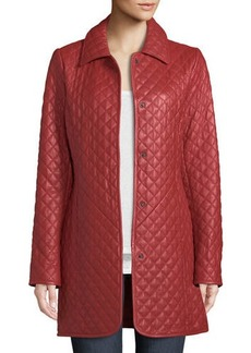 Neiman Marcus Quilted Leather Trenchcoat