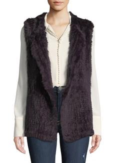 Neiman Marcus Rabbit Fur Open-Front Vest