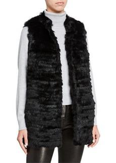 Neiman Marcus Rabbit Fur Reversible Vest