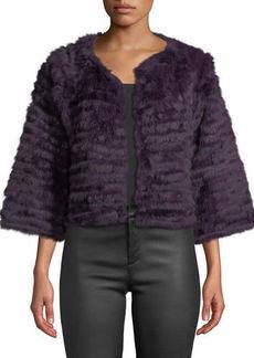 Neiman Marcus Rabbit Fur Topper Jacket