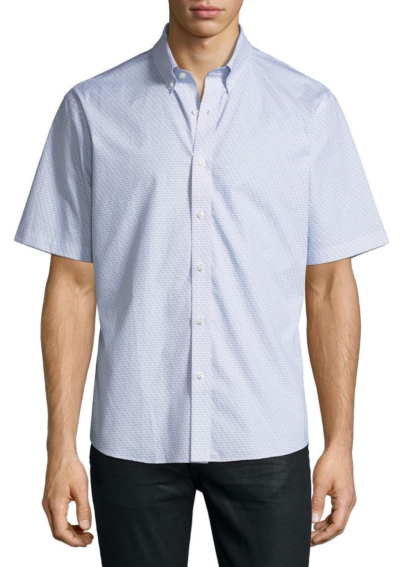 Neiman Marcus Regular-Finish Eyeglasses-Print Short Sleeve Sport Shirt