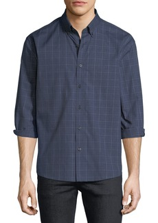 Neiman Marcus Regular-Fit Regular Finish Jaspe Glen-Check Sport Shirt