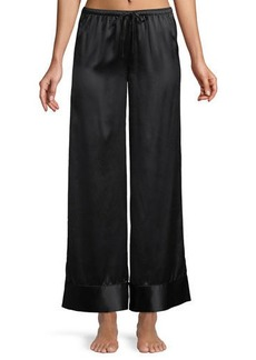 Neiman Marcus Relaxed Silk Lounge Pants