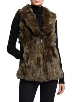 Neiman Marcus Reversible Rabbit Fur Vest