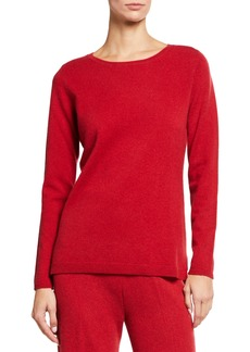 Neiman Marcus Ruched Cashmere Sweater & Matching Pants